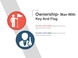 Ownership Man With Key And Flag Ppt Slide Styles