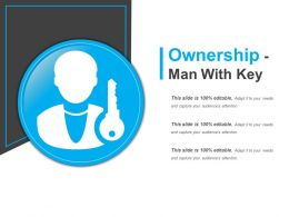 Ownership Man With Key Ppt Slides  Download