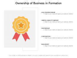 Ownership Of Business In Formation