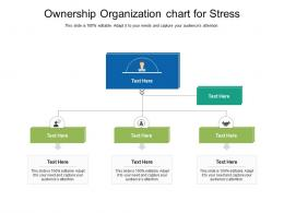 Ownership Organization Chart For Stress Infographic Template