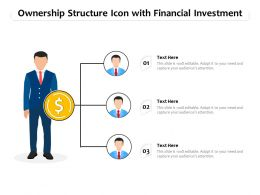 Ownership Structure Icon With Financial Investment