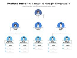 Ownership Structure With Reporting Manager Of Organization