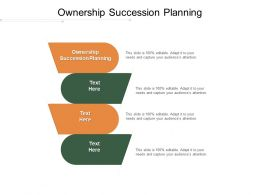 Ownership Succession Planning Ppt Powerpoint Presentation Summary Show Cpb