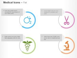 Oxygen Caduceus Microscope Scissors Ppt Icons Graphics