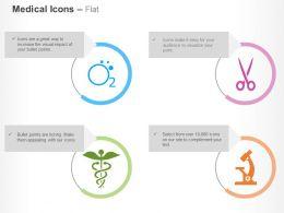 Oxygen Caduceus Microscope Scissors Ppt Icons Graphics