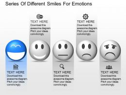 oy Series Of Different Smiles For Emotions Powerpoint Template
