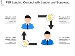 P2p Lending Concept With Lender And Borrower Peer To Peer Transfer Money