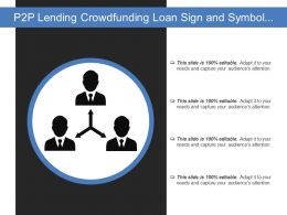 P2p Lending Crowdfunding Loan Sign And Symbol Isolated On White Background