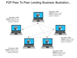 P2p Peer To Peer Lending Business Illustration Isometric Database