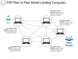 P2p Peer To Peer Model Lending Computer Business Illustration Isometric
