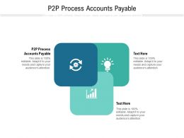 P2P Process Accounts Payable Ppt Powerpoint Presentation Slides Outfit Cpb