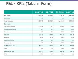 P And L Kpis Ppt Ideas Example File