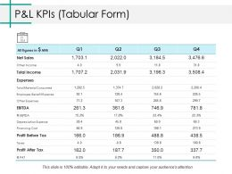 P And L Kpis Ppt Styles Pictures