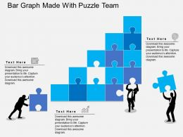 Pa Bar Graph Made With Puzzle Team Flat Powerpoint Design