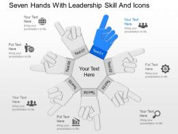 pa Seven Hands With Leadership Skill And Icons Powerpoint Template