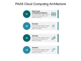 PAAS Cloud Computing Architecture Ppt Powerpoint Presentation Pictures Graphics Tutorials Cpb