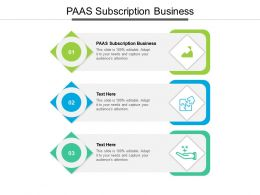 PAAS Subscription Business Ppt Powerpoint Presentation Gallery Templates Cpb