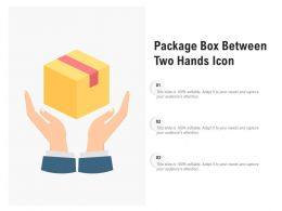 Package Box Between Two Hands Icon