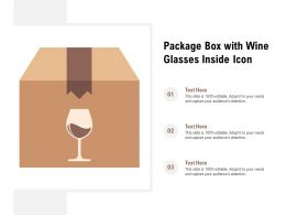 Package Box With Wine Glasses Inside Icon