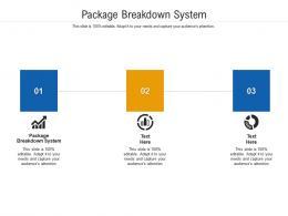Package Breakdown System Ppt Powerpoint Presentation Portfolio Design Ideas Cpb