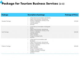 Package For Tourism Business Services Platinum Package Ppt Powerpoint Presentation Background