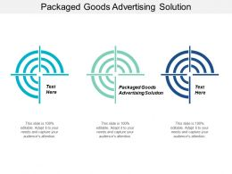 Packaged Goods Advertising Solution Ppt Powerpoint Presentation File Clipart Images Cpb
