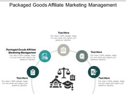 Packaged Goods Affiliate Marketing Management Ppt Powerpoint Presentation Infographic Template Cpb