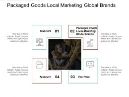 Packaged Goods Local Marketing Global Brands Ppt Powerpoint Presentation Gallery Templates Cpb