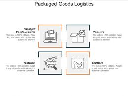 Packaged Goods Logistics Ppt Powerpoint Presentation Gallery Summary Cpb