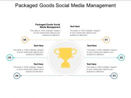 Packaged Goods Social Media Management Ppt Powerpoint Presentation Portfolio Graphics Pictures Cpb