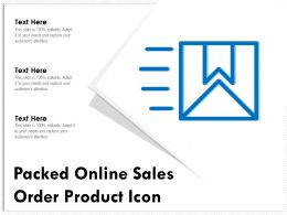 Packed Online Sales Order Product Icon