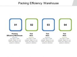 Packing Efficiency Warehouse Ppt Powerpoint Presentation Layouts Icon Cpb