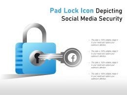 Pad Lock Icon Depicting Social Media Security