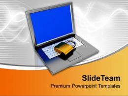 Padlock On Keyboard Data Security Powerpoint Templates Ppt Themes And Graphics 0213