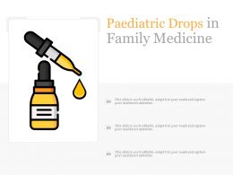 Paediatric Drops In Family Medicine