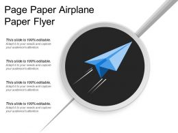 Page Paper Airplane Paper Flyer