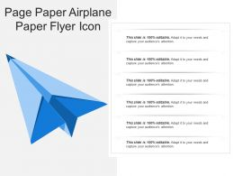 Page Paper Airplane Paper Flyer Icon
