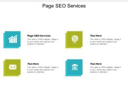 Page Seo Services Ppt Powerpoint Presentation Gallery Guide Cpb