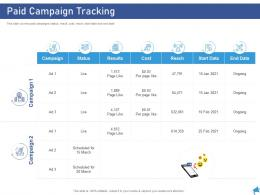 Paid Campaign Tracking Digital Marketing Through Facebook Ppt Diagrams