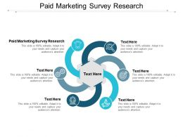 Paid Marketing Survey Research Ppt Powerpoint Presentation Infographic Template Objects Cpb