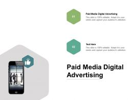 Paid Media Digital Advertising Ppt Powerpoint Presentation Professional Cpb