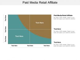 Paid Media Retail Affiliate Ppt Powerpoint Presentation File Design Inspiration Cpb