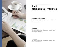 Paid Media Retail Affiliates Ppt Powerpoint Presentation Gallery Design Inspiration Cpb
