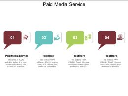 Paid Media Service Ppt Powerpoint Presentation Professional Format Ideas Cpb