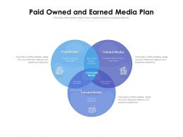 Paid Owned And Earned Media Plan