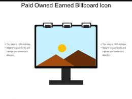 Paid Owned Earned Billboard Icon