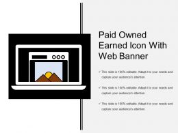 Paid Owned Earned Icon With Web Banner