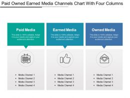 Paid Owned Earned Media Channels Chart With Four Columns1