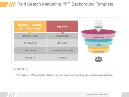 Paid Search Marketing Ppt Background Template
