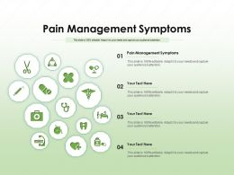 Pain Management Symptoms Ppt Powerpoint Presentation Layouts Structure
